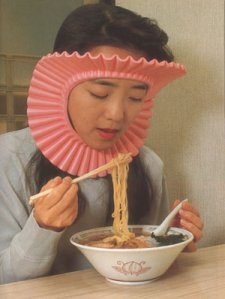 Protect your hair from evil Ramen broth
