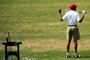 Obama leisurely playing golf during time of Gaza conflict